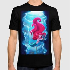 The Little Mermaid Mens Fitted Tee LARGE Black