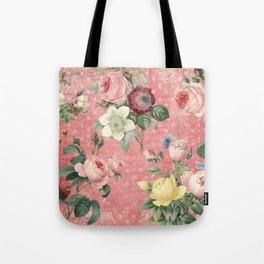 Vintage Rose Garden Tote Bag
