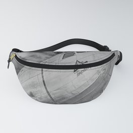 Airplane Propellors Vintage Flight Travel Aircraft Black And White Print Fanny Pack