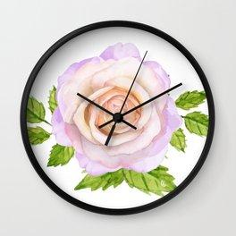 The Tiffany Rose Wall Clock