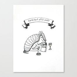 Soft Armadillo Canvas Print