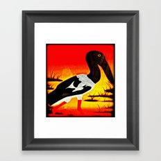 Bird in Pond Framed Art Print