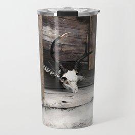 Golden Memoir, deer skull Travel Mug