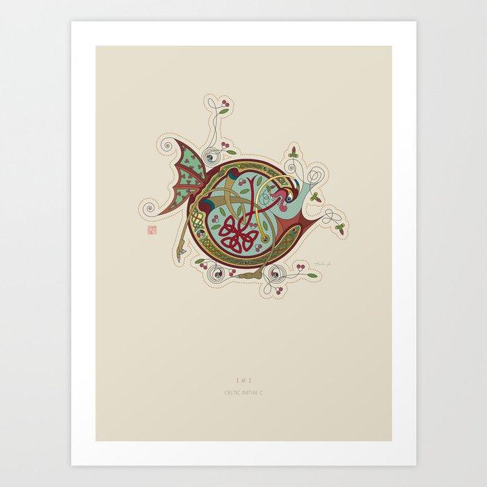 Celtic Initial C Art Print