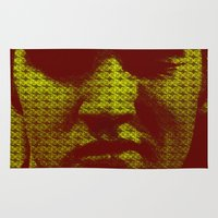 elvis Area & Throw Rugs featuring Elvis by Ganech joe