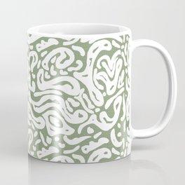Green openwork background with irregular shapes Coffee Mug