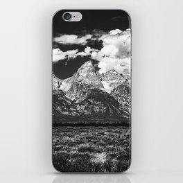 Mountain Summer Escape - Black and White Tetons iPhone Skin