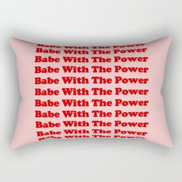 Babe With The Power - Red! Rectangular Pillow