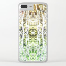 124 - White branches design Clear iPhone Case