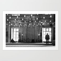 The mosque Art Print