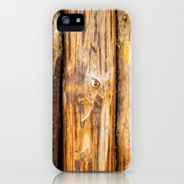 Wooden Log Fence Or Palisade iPhone Case