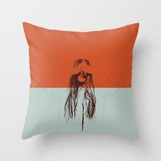 Woman Color 2 Throw Pillow