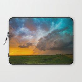 Glorious - Stormy Sky and Kansas Sunset Laptop Sleeve