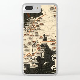 Map Of Newport 1933 Clear iPhone Case