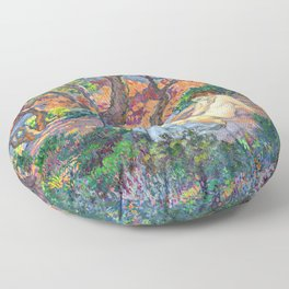 Theo van Rysselberghe - In the Shade of the Pines (new color edit) Floor Pillow