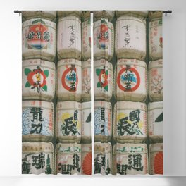 Sake Barrels, Meiji Jingu Blackout Curtain