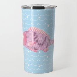 Snapper and wave Travel Mug