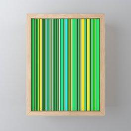 GREEN SPRING STRIPES Framed Mini Art Print