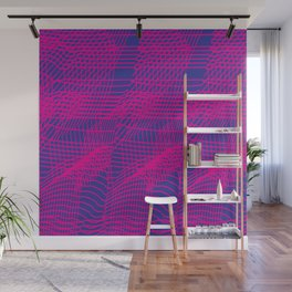 Glitchy Pink Wall Mural