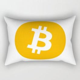 Bitcoin Logo Rectangular Pillow