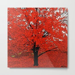 TREES RED Metal Print