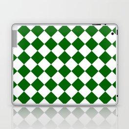 Diamonds - White and Dark Green Laptop & iPad Skin