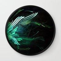 malachite Wall Clocks featuring Malachite by Lea Gray Design