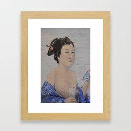 Beauty is in the Eye (Geisha detail) Framed Art Print
