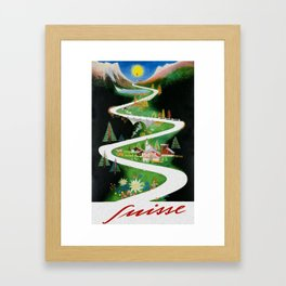 Switzerland - Vintage French Travel Poster Framed Art Print