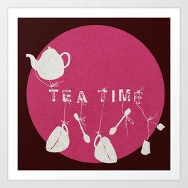 Pink Tea Time Art Print