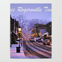 Historic Rogersville Tennessee In Winter Poster