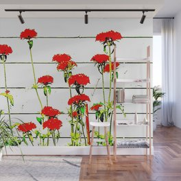flowers many red Wall Mural