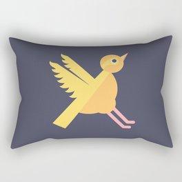 Letter X // Animal Alphabet // Xenops Monogram Rectangular Pillow
