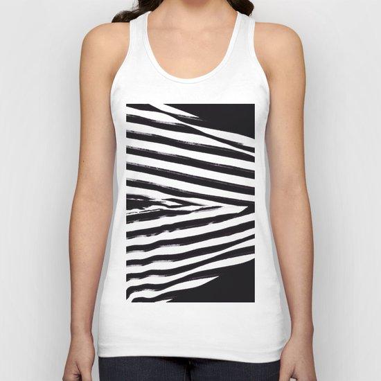 Black & White Stripes Unisex Tank Top