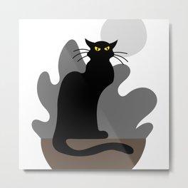 Le Chat Noir Metal Print