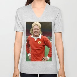 Denis Law in colour Unisex V-Neck