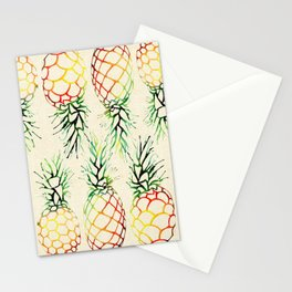 Burlap Pineapples Stationery Cards