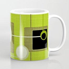 orbs and squares acid green Coffee Mug