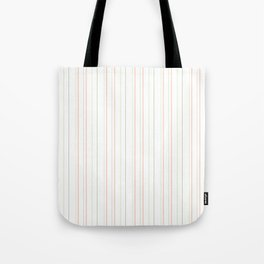Modern geometrical pink coral green white stripes Tote Bag