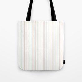 Modern geometrical pink coral green white stripes Tote Bag