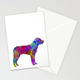 Great Swiss Mountain Dog in watercolor Stationery Cards