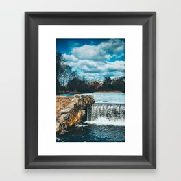 Waterfall afternoon Framed Art Print