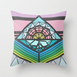 The Square of a Sunset Throw Pillow