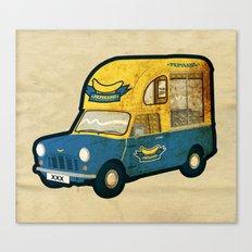 PEPISANG Banana Mobil Canvas Print