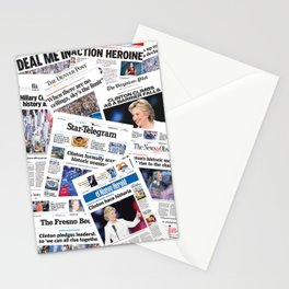 Hillary 2016 Historic Front Pages Stationery Cards