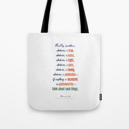 Think About Such Things . . . Tote Bag