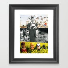 We're All The Same, When You Turn Out The Lights Framed Art Print