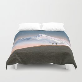 Couple on the Hill Duvet Cover
