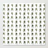 ninja turtle Canvas Prints featuring Ninja Turtle Pattern by Neal Julian
