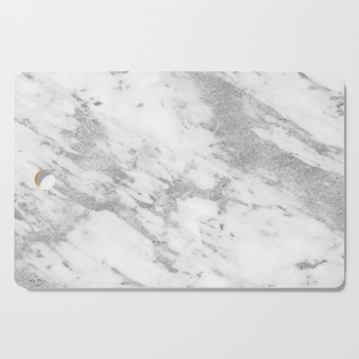 Marble Silver And White Pattern Cutting Board